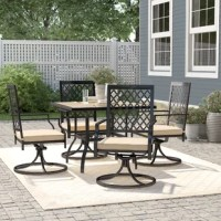 Heavy-duty frame with e-coating, rust weather-resistant for long-lasting outdoor use. Perfect for indoor, outdoor garden, patio, porch, and yard.