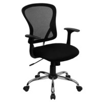 Having the right chair in your workspace is essential for your performance and well-being. Investing in a good task chair increases productivity, promotes good posture and gives a professional look to any office. This burgundy task chair is adjustable to accommodate many different body types. The breathable mesh back allows air to circulate to keep you cool. The colorful, generously padded mesh seat will add a vibrant, lively look to your space as well as keep you comfortable. A mid-back office...