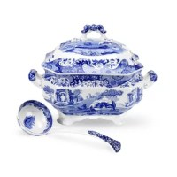 This soup tureen and ladle set is a beautiful way to serve your soup.