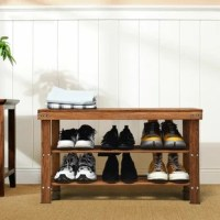 Are you looking for a stylish and practical shoe rack for your home? This well-designed shoe rack with enough storage space is the right answer for your need. It is a combination of a shoe rack and a bench that can hold lots of shoes and can offer a seat when changing shoes. Three layers of rack give you more storage space and you can keep all of your shoes in order. The frame of the rack is made of bamboo and the boards are connected with premium metal screws which ensure sturdiness and...