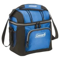 Keep cool with the Coleman 9 Can Picnic Cooler. This cooler includes removable hard plastic liner for added functionality. The adjustable shoulder strap allows you to carry it wherever you go. This cooler has a front zippered pocket that allows you to keep your beverage can in it. This soft-sided cooler is made from fabric that makes it robust and reliable. It has a novelty theme and bungees on the lid to hold extra gear. This Picnic Cooler from Coleman is a nice addition for your picnic or...