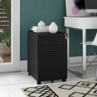 This vertical filing cabinet is a compact and safe option for business or home office where space is limited. The bottom drawer keeps your documents organized and accommodates letter or legal size files while two drawers above provide additional storage space for your small items.