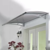 Keep your home entrance dry and protected from the elements, including damaging UV rays, in every season with this door awning. The strong, steel support arms and aluminum front and back trims of this door awning are sleek and stylish. Modern, high-end materials are neutral enough to match any home décor.