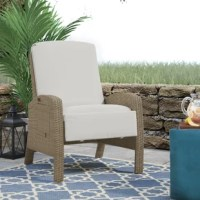 This patio chair with cushion is perfect for the outdoor park, garden, backyard, poolside and etc. Sturdy steel frame and durable wicker ensure long-lasting use. Backrest and footrest are adjustable and you can choose the right angle for you. Cushion filled with cotton is beneficial for a high degree of comfort. You can put a cup of tea or coffee on a removable side table while enjoying outdoor. Put some ice in your drink and enjoy the great outdoors with this beautiful lounge chair.