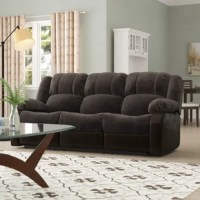 This collection is ready to accommodate all your needs and wants for a comfortable living room setting. Plush armrests with padded seat backs and headrests. Each sofa has 2 reclining seats, on each end. Wrapped in a champion fabric and polyurethane for pure comfort. Pocket coil spring seat cushion covered with high quality, high-density foam, for added comfort. This listing is only for the sofa of this collection.