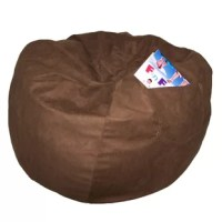 Let your little one kick back for morning cartoons or have a seat yourself as you game away a rainy day with this essential beanbag chair. It is stuffed with polystyrene foam and features a machine-washable polyester suede cover in a neutral solid hue. Though it's large, it's lightweight for easy moving. Plus, it includes a side pocket for keeping a good book or a remote on hand.