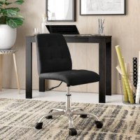 Give your teen an on-trend place to tackle homework or draft a college admissions essay with this essential chair. Striking an armless silhouette, it's wrapped in faux leather upholstery and accented by button-tufted details for a contemporary look. It features a steel base with a polished finish as well as five caster wheels that make it easy to roll between the printer, the desk, and back. Plus, the seat height can be adjusted to find that perfect position.