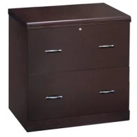 Whether you're looking to cut down on memo clutter, or just make the most of your office by tucking away manuals and other papers, a filing cabinet like this is a great option for handy workplace organization. Crafted form manufactured wood with solid wood veneers with an espresso finish, this filing cabinet features two drawers with included file bars, and is designed to accommodate both legal and letter style files. And with a locking top, this cabinet is perfect for keeping sensitive...
