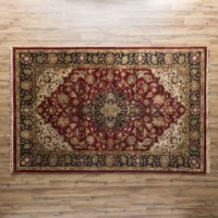 Hand-knotted, this rug features an Oriental look in deep, rich hues. Minimal shedding and a detailed fringe exterior make this a timeless piece for any home.