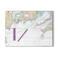 Accent your walls with a Nautical Chart printed directly on planked wood for a rustic nautical look.