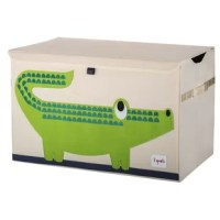 The 3 Sprouts toy chest is the perfect organizational tool for any room. With sides reinforced by cardboard their toy chest stands at attention even when empty, and the lid keeps all toys out of sight. Large enough to hold whatever you throw in it, this toy chest adds a pop of fun to every room. The 3 Sprouts toy chest makes organizing a room full of toys easy.