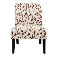 The Gallaher Armless Accent Chair is the splash of pattern your living space needs to give it a new life. You don't need to change your entire room décor to make it feel new; all you need is an accent chair that will bring some character to your room without overwhelming it. Beautifully upholstered in a playful pattern of polyester blend fabric, the Gallaher Accent Chair will add a hint of visual interest to your living room, entryway, guest room, children's bedroom, or home office. The...
