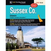 The Sussex County, DE Atlas is a full-color street atlas, including: Bethany Beach, Blades, Bridgeville, Dagsboro, Delmar, Dewey Beach, Fenwick Island, Georgetown, Laurel, Lewes, Milford, Millsboro, Milton, Ocean View, Rehoboth Beach, Seaford, Selbyville, Slaughter Beach, and South Bethany; and features: Airports, Block Numbers, Colleges and Universities, Downtown Georgetown, Golf Courses, Hospitals, Marinas, Parks and Rec Areas, Places of Interest, Regional Maps, Schools, and ZIP Codes.