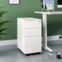 This Stansel PB Mini Steel File 3-Drawer Vertical Filing Cabinet fits perfectly under most desks. Black and White are available.