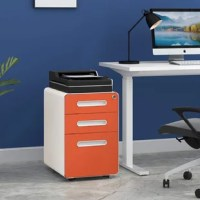 Organize your important papers and office supplies with this filing cabinet. This filing cabinet features three full-extending, soft-close drawers with the bottom one built to support hanging files. The top two drawers have stationary trays so you can keep your office supplies organized. All drawers can be locked so you can maintain your privacy if needed. Set on casters, you can move the filing cabinet around your home office. No assembly required.
