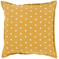 The sofa in need of some sprucing up Or maybe you're making over the master suite? Make it pop with this posh throw pillow! Showcasing a fun polka dot motif in two tones, it's sure to draw the eye in both classic and contemporary aesthetics. Crafted from 100% linen, its cover takes on a full square silhouette thanks to the fill inside. To keep this piece looking sharp, just spot clean when necessary.