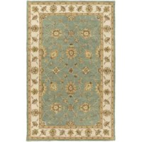 Looks aside, area rugs help absorb and decrease noise as they soften the step of hardwood and tile flooring. Made in India, this one is constructed from wool, a natural fiber with the added benefit of extra grip that promotes proper posture, better balance, and accident prevention. It features a 0.4