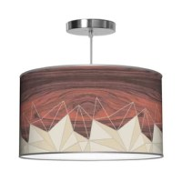 Jefdesigns organic imagery, digitally enhanced with woodgrain and printed on textural linen shades. These pendants provide warm illumination while adding a little nature to your home.