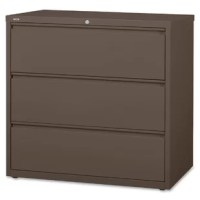 Lateral file features versatile drawers with hanging file rails for side-to-side filing in letter-size, legal-size or A4-size. Each drawer has a magnetic label holder for easy identification where you need it. Design also features a core-removable lock for security; dual locking bars; full-width pull; ball-bearing slide suspension for smooth opening and closing; reinforced base; and four adjustable leveling guides for stabilization. Interlock system prohibits the extension of more than one...