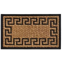 This classic designed doormat is an excellent choice where a thin mat is necessary for low opening doors. Made of natural coir and rubber, this multi-purpose mat is also great for mud rooms to dry wet or soiled footwear. All doormat sizes are approximate. Due to the difference of monitor colors, some doormat colors may vary slightly.
