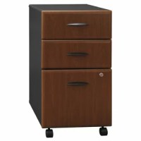 Organize your office cabin or workstation with the chic and classy Bush Series A 3-Drawer Mobile File. Simply designed to offer utility, this file cabinet is an excellent option to keep all your important files and folders safe. Compact and space saving, it can be easily accommodated beside your computer desk for easy access of documents. This file cabinet features a wide, flat top, which can be effectively used for placing handy office stationery, diaries, books, or a landline telephone.   The...