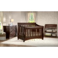 The Bentley S 3-Piece Nursery Furniture Set by Delta Children includes everything you need to create a stylish and serene nursery. The set includes a convertible baby crib that features three mattress height positions that can be lowered as your baby begins to sit or stand. Plus, it converts into a toddler bed, daybed and full-size bed. The coordinating dresser offers an abundance of storage with its 6 drawers—safety stops on each drawer ensure they never fall out. The changing table provides...