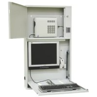 Omnimed 291557 Informatics Work Center w/ Programmable Electronic Lock This wall desk work center offers areas to store your CPU, monitor, keyboard, and mouse. A large separate bottom area is also offered for your cable management needs. The two-lock system provides extra security with the lower door having an electronic programmable lock with an automatic security mechanism. Features of this Work Center: Separate monitor and CPU compartment Convenient mouse storage pocket & keyboard slide for...