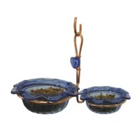 Birds Choice copper double cup bluebird feeder. Fill the two 3 oz. cups with mealworms or seed.