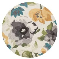Stylishly anchor your living room or master suite with this delightful rug, showcasing a whimsical floral.