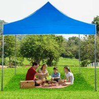 The Pop-Up Instant Canopy Tent from Stalwart provides shade and shelter wherever you need it. It's simple to set up and easily folds into a compact shape for storage and transportation. The height of the legs adjusts from 67 to 78