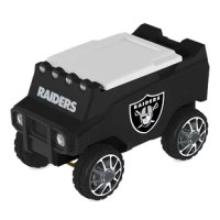 Let the adventure begin and cheer on your favorite team with your very own officially licensed, remote control, C3 Rover Cooler. Be the envy of your friends as you deliver cold beverages and hot music with a simple click of the remote. Show your team spirit and order your C3 Rover Cooler today!