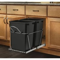 Double Roll 8.75 Gallon Pull Out Trash Can units are a perfect way to clear your kitchen of unsightly trash by hiding it inside your cabinet. Made with high-quality slides, durable wire construction and you will be ready to trash your freestanding waste container.