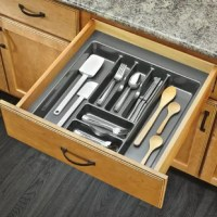Rev-A-Shelf's drawer inserts are the best if you are looking for a custom look. Why settle for a cutlery insert that just drops in your drawer and moves every time you open and close your drawer. Create a custom fit by trimming to your exact size.