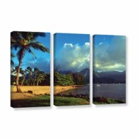 Golden Light on Hanalei by Kathy Yates 3 Piece Photographic Print on Gallery Wrapped Canvas Set is a high quality canvas that embodies the timeless appeal of natural landscape photography. Yates captures this stunning view of the Hanalei shore with such truth, it will be sure to transport any viewer to the Hawaii coast. A soothing addition to any room.