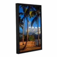 Hanalei Bay Palms by Kathy Yates Floater Framed Photographic Print on Gallery Wrapped Canvas is a high quality canvas that embodies the timeless appeal of natural landscape photography. Yates exposes this alluring Hanalei shore line so well; any spectator can nearly taste the salt in the air from this Hawaiian coast. The dream-like quality of this piece will bring a sense of calm to any room.
