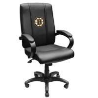 The Task Chair is a must for any fan who wants to support the favorite sports team both at home or at the office. These office chairs are made from durable high grade synthetic leather upholstery with padded arms. Built-in lumbar support. Tilt and lock control. Best of all the logos zip on and off for endless customization and you can add a second logo to the back of the chair!