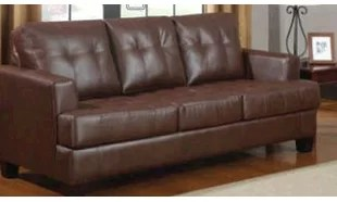 Our sleeper is a great space saver and stylish addition to any room. Pair this sleeper with our sofa collections to make the perfect match. Wrapped in ultra-soft faux leather with plush seating. Have your overnight guests rest easy on this 4.5