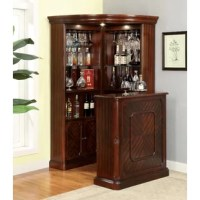 Lend a regal air to your kitchen and dining space with this stylish Curio Cabinet. This piece features a robust wooden frame for long-lasting quality, with numerous display shelves with mirrored back panels, built-in glass racks, and lower cabinet space. The space-saving design maximizes your corner space.