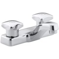 With practical design and solid brass construction, Triton faucets are an exceptional value. Competitively priced Triton faucets feature washerless ceramic valving, a durable Polished Chrome finish and vandal-resistant index buttons. The two-handle centerset faucet with standard handles will hold up to years of daily use.