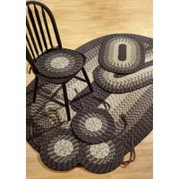 Fontenay braided rug 7 piece set with room size rug and accessories is the perfect all in one rug set for any room, dorm, apartment or house.