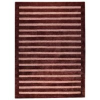 Contemporary by nature but able to fit into any style home, the design has a bold set of lines that strike through horizontally and draw the eye in to capture your attention. A fantastic choice for a downtown loft, this rug is breathtaking no matter which rich color options you choose. This collection is also available in an assortment of sizes, including a runner. Hand-knotted by craftsperson's in India and constructed from New Zealand wool and viscose, this rug is a beautiful finishing touch...