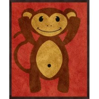 Touch up your walls with this set of 3 adorable art prints, gel-coated in espresso inverse frames. Their gestures symbolize the popular phrase: ''See no evil, hear no evil and speak no evil.'' It comes ready-to-hang.