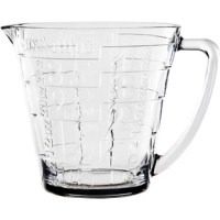 A stylish addition to your bakeware collection, this glass measuring cup features embossed numerals for sleek appeal.