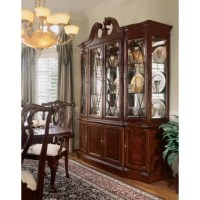Cathedral cherry veneers, alder solids and select hardwoods create a new and exciting China Cabinet. You'll be investing in a timeless piece of furniture that will be cherished for generations to come with it's attention to detail and exquisite craftsmanship. Celebrate tradition with this collection.