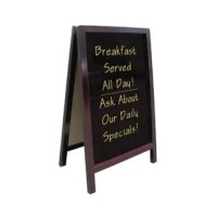 Use these free-standing boards anywhere. Dark wood finish adds elegance.