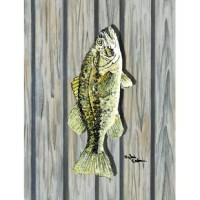 Full size garden flag is made from a 100% polyester heavyweight canvas material. Not your typical gargen flag that you might find from a mass merchant. These flags are only sold online and in specialty boutiques. This Fish Bass 2-Sided Polyester 3'4