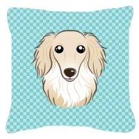 100% Polyester Fabric pillow Sham with pillow form. This pillow is made from Caroline's Treasures new canvas type material and can be used indoors or outdoors. This is a coated canvas with a heavy hand. Mildew resistant, stain resistant, fade resistant and Machine washable. Made in the USA! These are all handmade and may vary slightly in size.