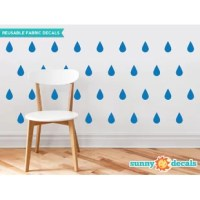 These beautiful rain drop fabric wall decals will add huge personality to your wall decor. The decals are made from a fabric material that is extremely easy to apply. Just peel and stick anywhere. They have a wide variety of themes and they are constantly adding new ones. It's extremely easy to install because it doesn't come in a complicated puzzle and you don't need any tools or diagrams. It won't shrink or curl like vinyl and the matte finish looks like a mural has been painted on your...