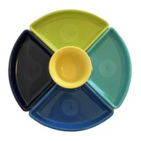 Made for casual and colorful entertaining, The 5 Piece Diving Serving Dish Set is a nod to the vintage Fiesta Entertaining Collection, but with modern color combinations that are sure to be conversation pieces at any casual dining event.