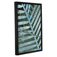 Cora Niele's Palm, Gallery-Wrapped Floater-Framed Canvas is a high-quality canvas print featuring an abstract leaf display that will add a touch of warmth and serenity to any home or office.